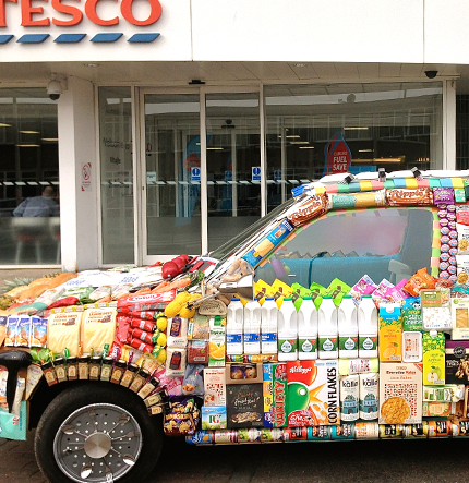 Mobile product placement for Tesco