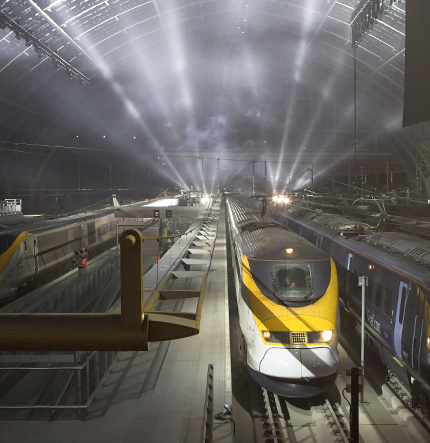 The first trains arrive at St. Pancras International